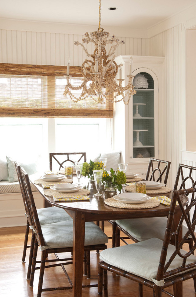 Breakfast Room. Coastal Breakfast Room. Breakfast Room Ideas #BreakfastRoom Ben Gebo Photography. Annsley Interiors.