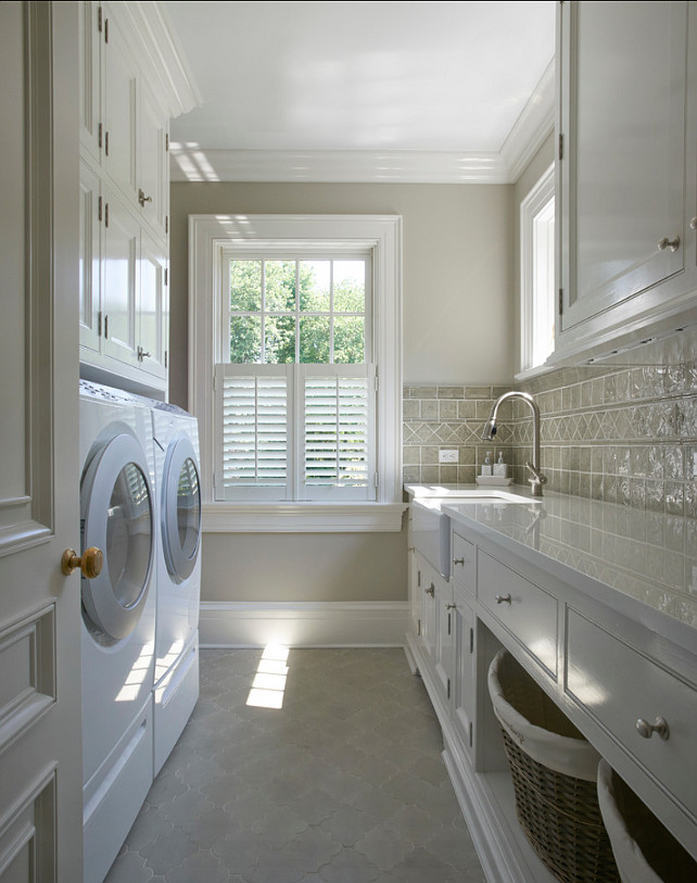 Laudnry Room Design. I want my laundry room to look just like this one! #LaundryRoom
