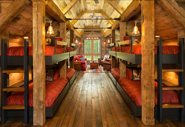 Bunk House With Rustic Interiors Home Bunch Interior Design Ideas