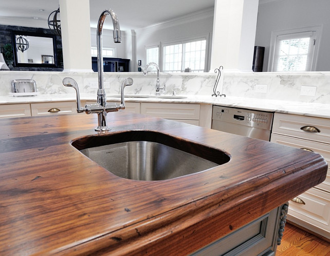 Butcher Block Countertop Butcher Block Distressed Black Walnut Heritage Wood island  #ButcherBlockCountertop  #ButcherBlock CR Home Design K&B (Construction Resources).