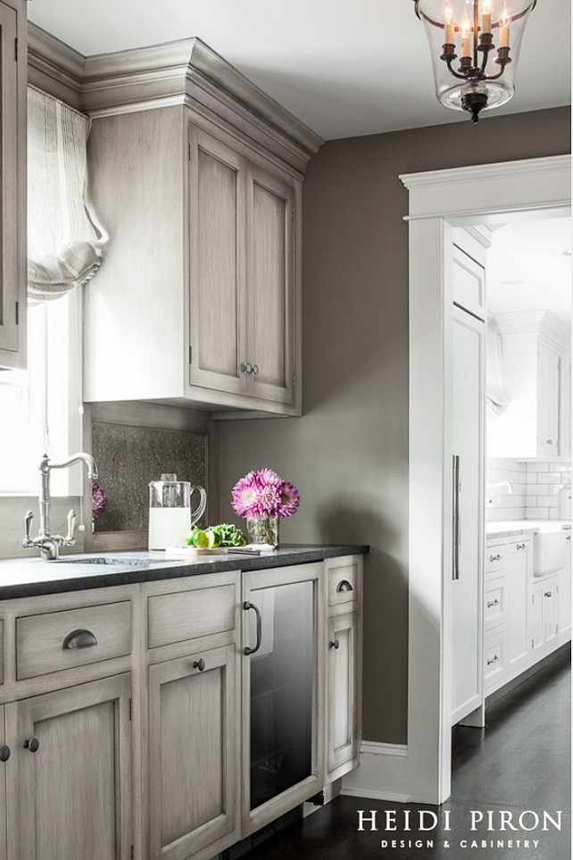Butler's Pantry Cabinet Ideas. Butler's Pantry Cabinet. Butler's Pantry Cabinet Color. #ButlersPantry #ButlersPantryCabinet Heidi Piron Design & Cabinetry