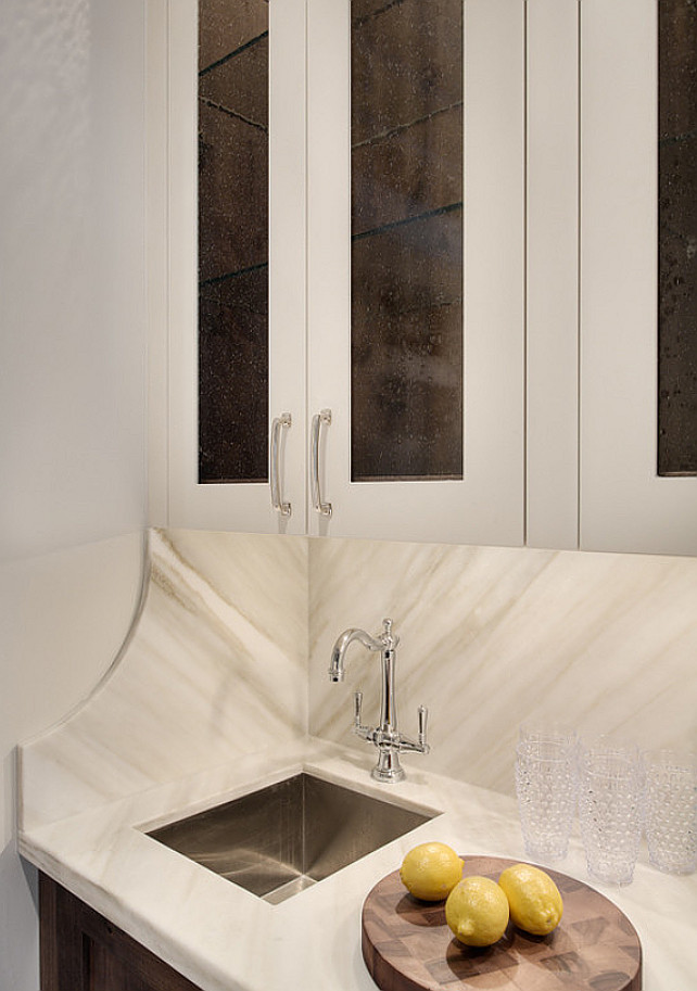 Butler's Pantry Countertop Backsplash #ButlersPantryCountertop #ButlersPantryBacksplash  Veranda Estate Homes & Interiors