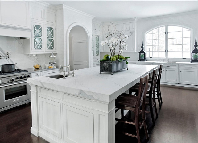 Kitchen Island Ideas Kitchen island is a 2cm carrera white marble