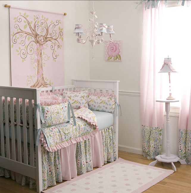 Girls Nursery Design #Nursery #GirlNursery