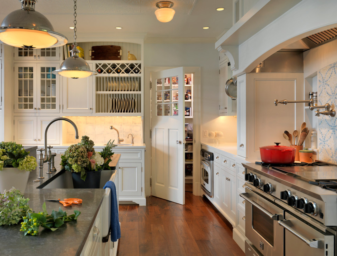 Kitchen Pantry. Kitchen Pantry Ideas. Kitchen Pantry Door. #KItchen #KItchenPantry #KitchenPantryDoor Carpenter & MacNeille.