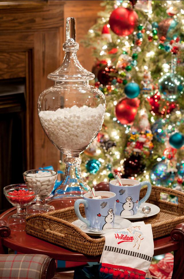Christmas Hot Chocolate Ideas. #HotChocolate #Christmas  Tobi Fairley Interior Design