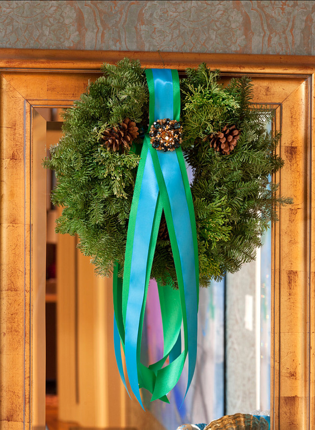 Christmas Wreath. Christmas Wreath Ideas.  Tobi Fairley Interior Design.