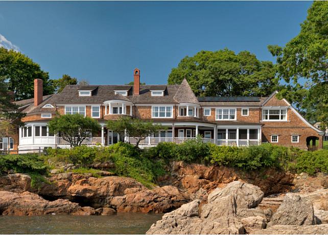 Classic Shingled Beach House. #ShingleHomes #BeachHouse