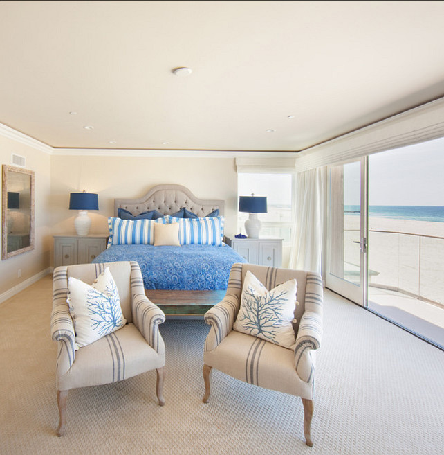 Coastal Bedroom. Coastal Bedroom Design Ideas. #CoastalBedroom Brooke Wagner Design.
