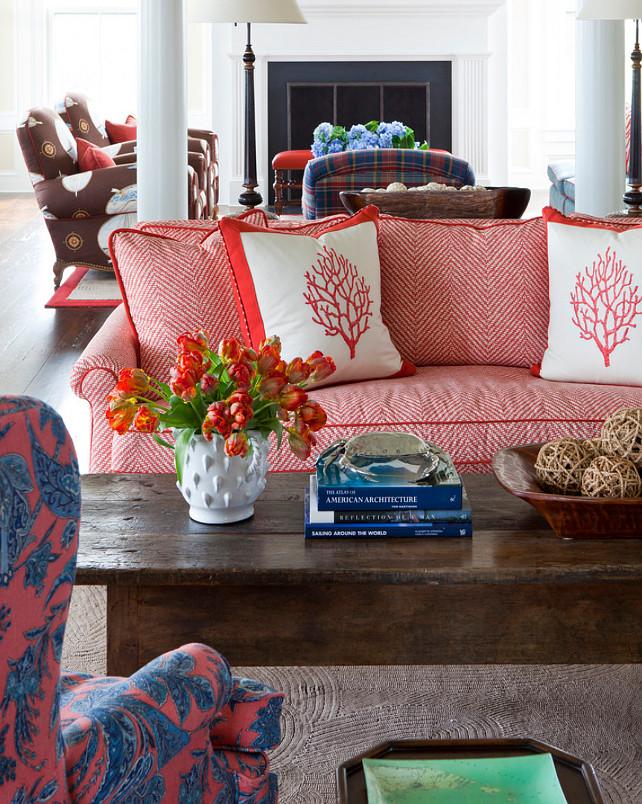 Coastal Color Scheme. Coastal Color Scheme Living Room. #CoastalColorScheme #CoastalFabrics #CoastalInteriors  Jeannie Balsam LLC
