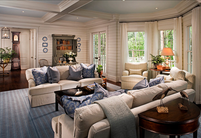 "Coastal Decor. Coastal interior ideas. Coastah home with beautiful coastal decor ideas. The walls are 6"" poplar with a shiplap joint. #Coastal #CoastalHomes #CoastalInteriors #CoastalDecor"