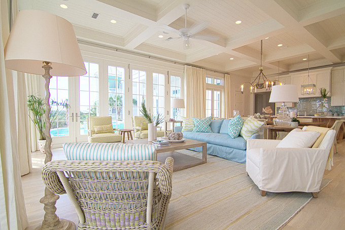 Coastal Family room. Meredith McBrearty.