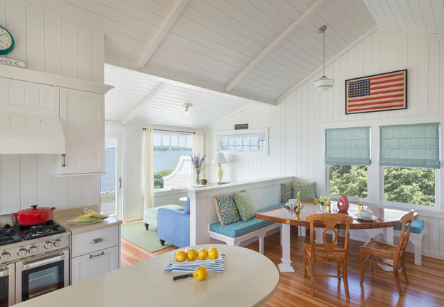 small beach cottage interior