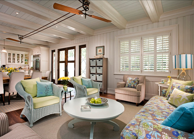 Small Beach House Decorating Ideas Small Cottage With Turquoise Interiors