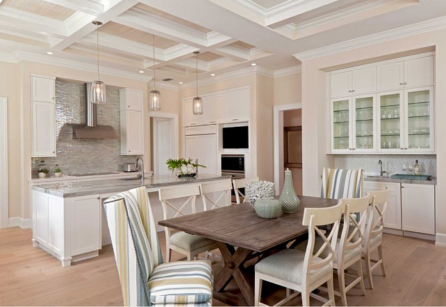 Coastal Kitchen Design. AlliKristé Custom Cabinetry and Kitchen Design.