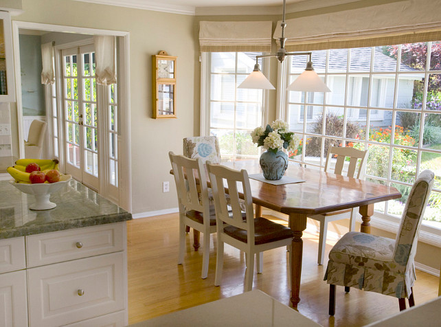 Coastal Kitchen. Coastal Inspired Kitchen with dining area adjacent. #Coastal #Kitchen #CoastalInteriors