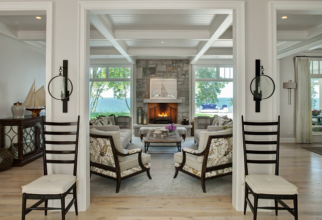 Coastal Living Room. Beach House Coastal Living Room. #Coastal #LivingRoom  Fraerman Associates Architecture