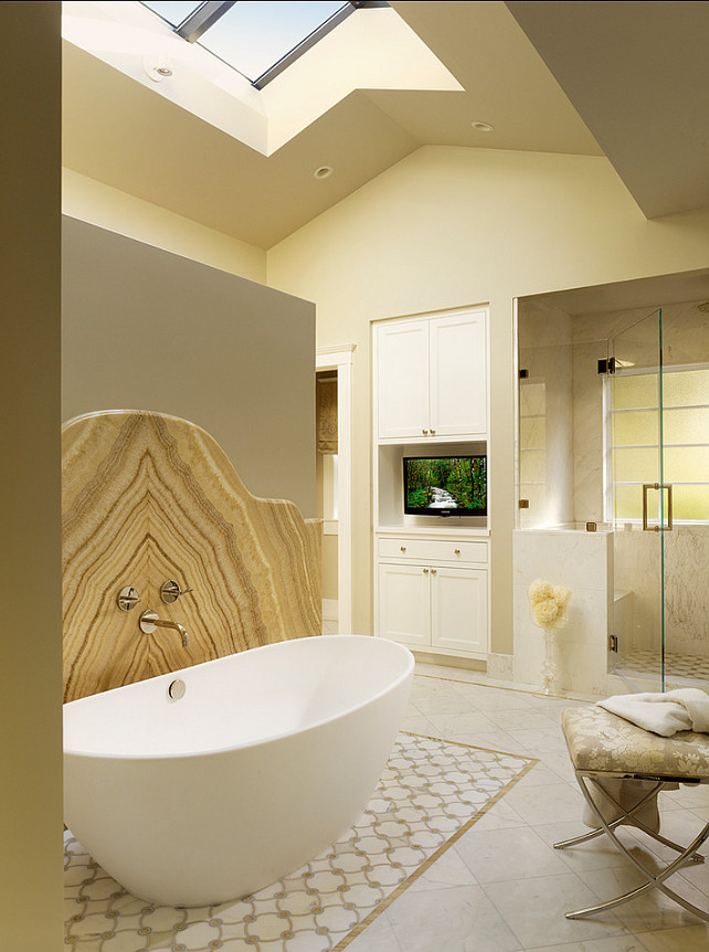 Bathroom. Beautiful Neutral Bathroom Design. #BathroomDesign #bathroom #Interiors