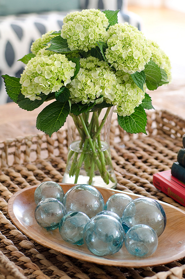 Coffee table decor ideas. Coastal decor. Coffee table. Kristina Crestin Design.