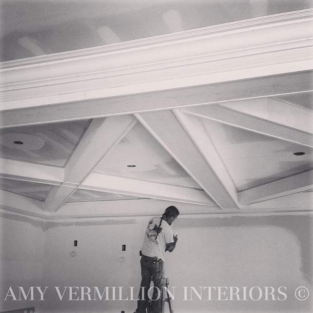 Coffer Ceiling Design Ideas. Coffer Ceiling. Coffer Ceiling Design. #CofferCeiling #CofferCeilingDesign #CofferCeilingIdeas  Amy Vermillion Interiors