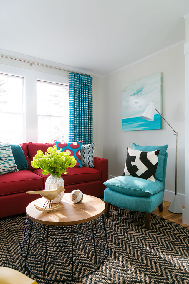 Colorful Interiors. How to decorate Colorful Interiors without going overboard. #ColorfulInteriors Rachel Reider Interiors.