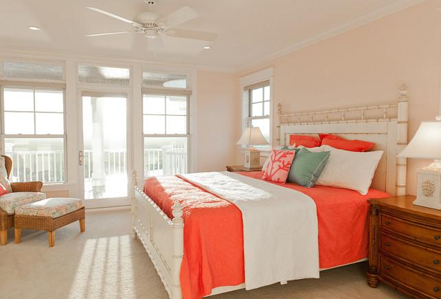 Coral Bedroom. Coral Bedroom Ideas. Coral Bedroom Design #Coral #CoralBedroom #CoralDecor #CoralPaintColor Blue Sky Building Company.