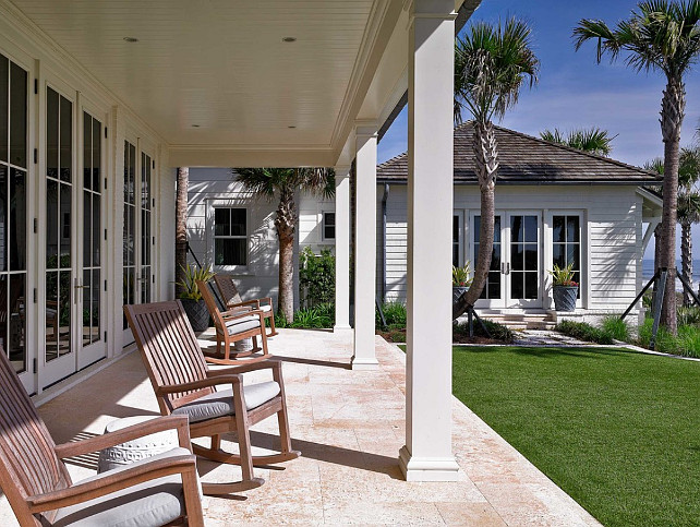 Cottage Back Porch. Beach cottage back porch ideas. #BeachCottage #Porch #BackPorch Cronk Duch Architecture.