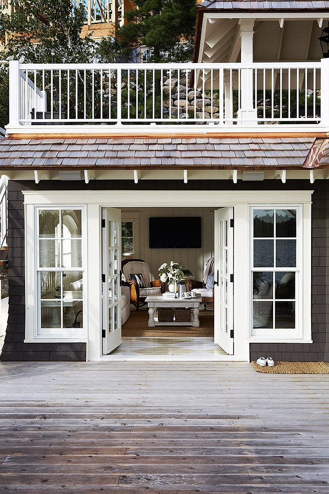 Cottage Deck Cottage Deck Ideas Lake Cottage Deck By The