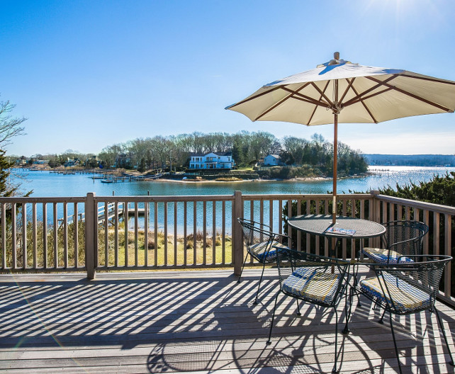 Cottage Deck. Cottage deck ideas. Waterfront cottage deck. #Cottage #Deck Sotheby's Homes.