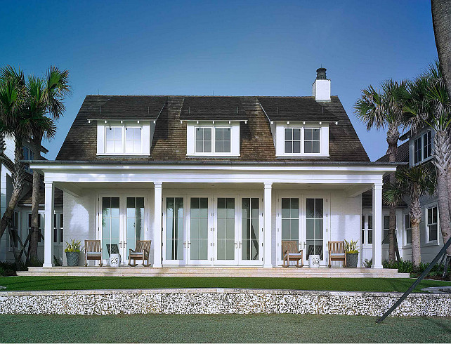 Cottage. Back Elevation Ideas. Cottage Back Elevation. Beach Cottage Back Elevation. Beach Cottage Back Elevationwith Porch. #BeachCottage #BackElevation Cronk Duch Architecture.