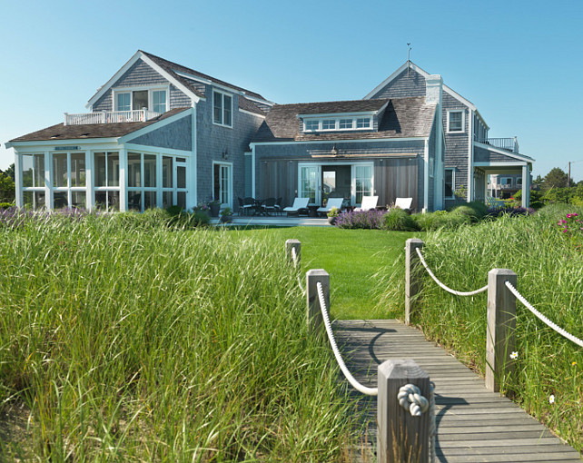 Nantucket Beach Cottage With Coastal Interiors Home