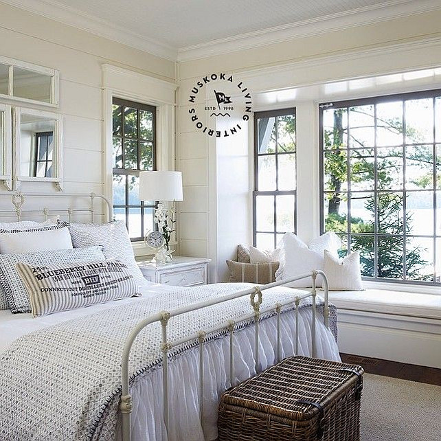 Cottage Bedrooms: Coastal Muskoka Living Interior Design Ideas