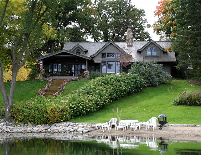Country Home. Lake Home. Home Exterior. Backyard. #HomeExterior #Backyard  The Landschute Group