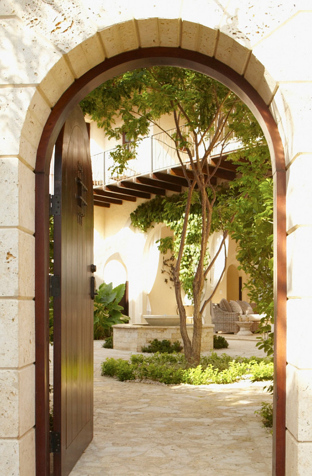 Courtyard. Courtyard Gate. Courtyard Garden. Interior Design by Beth Webb Interiors.