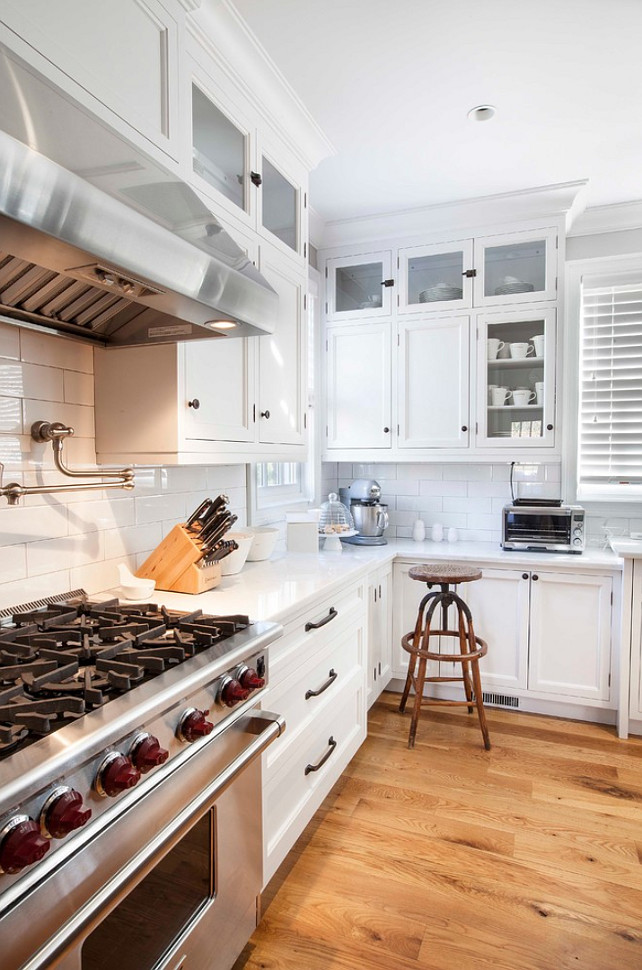 Crisp White Kitchen Cabinet Paint Color. Crisp white paint color for kitchen cabinet. #CrispWhitePaintColor #CabinetCrispWhite John Johnstone.