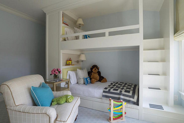 Custom Bunk Beds Bunk Bedroom. Bunk Room. Bunk Room Ideas. Custom Bunk Room. Custom Bunk Beds. #BunkRoom #Bunkbeds Alisberg Parker Architects. #CustomBunkBeds
