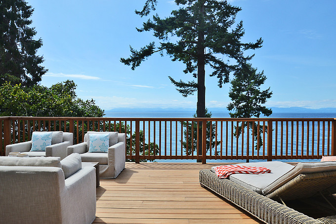 Deck Furniture Layout. Sunshine Coast Home Design.