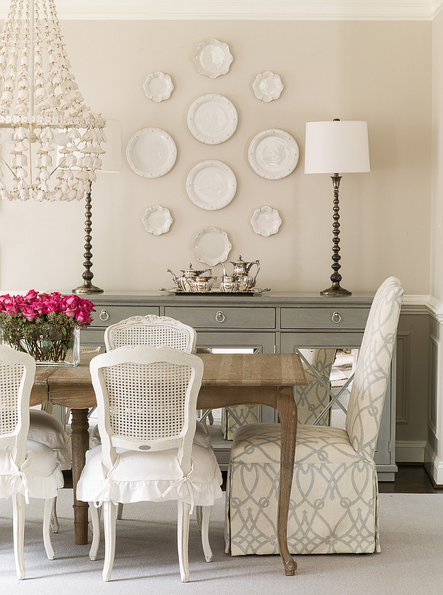 Family home with neutral interiors home bunch interior for Dining room ideas cream