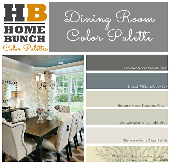 Dining Room Color Palette Benjamin Moore Iron Mountain Sherwin Williams Foggy Day