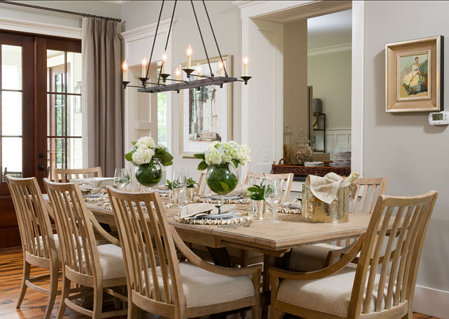 Dining Room Design. The table is Shelter bay Dining Table 062-71-36 with whitewash finish by Stanley Furniture Coastal Living Resort Collection. #DiningRoom #DiningRoomDesign