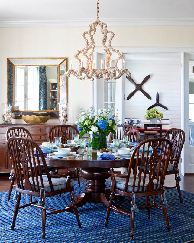 Dining Room Furinture. Dining Room with Round Table. Dining Room Design. Coastal Dining Room. Coastal-themed Dining Room. #DiningRoom #CoastalInteriros  Jeannie Balsam LLC.