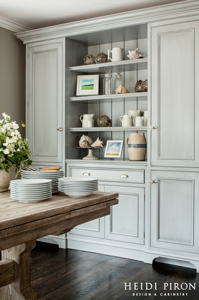 Transitional beach house kitchen style home bunch for Dining room hutch ideas