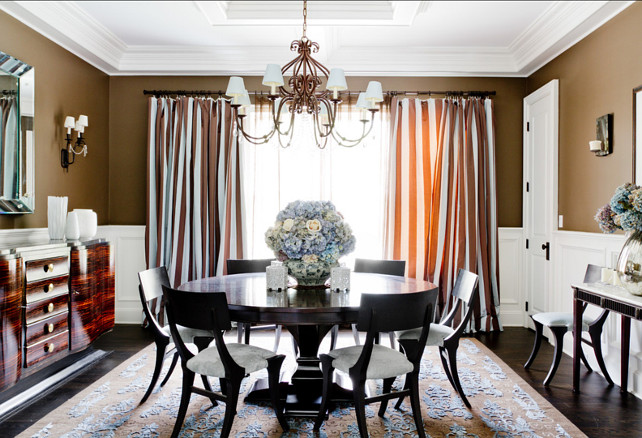 Dining Room Ideas. This dining room is warm and almost perfect! Take a close look at the table, it's a bit dusty. This is to show that evev perfect homes aren't always perfect, so don't feel that bad when you find some dust aroun