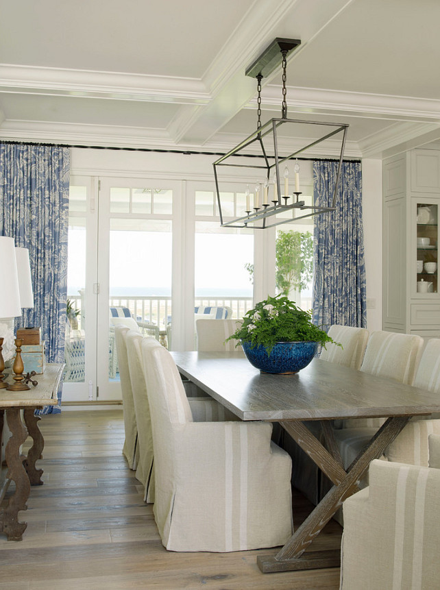 This dining room is just how i love comfortable causal and pretty