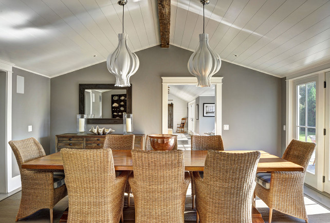 Dining Room Lighting. Dining Room Lighting Ideas. The lighting in this dining room is the Verpan Onion Pendant Lamp. #DiningRoom #DiningRoomLighting #Verpan #OnionPendant