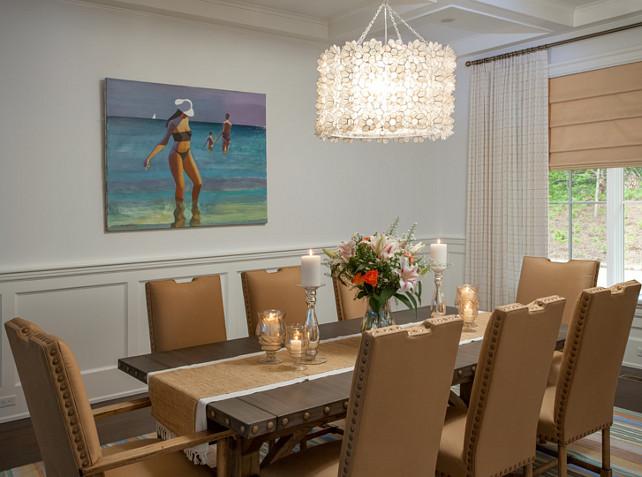 Dining Room Zinc Table. Dining Room zinc table is from Restoration Hardware. #DiningRoomZincTable. Duneier Design.