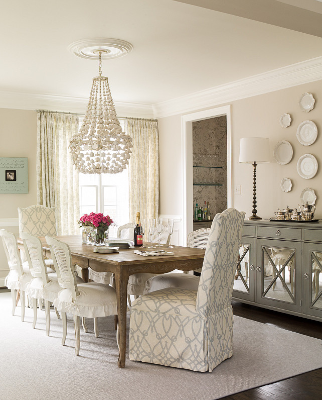 Dining Room. Dining Room Lighting is Oly Studio Flower Drop Chandelier. Dining Room Rug. Dining Room Chandelier. Dining Room with Decoratove Wall Plates. Dining Room Sideboard. Dining Room Paint Color. Dining Room Curtain Fabric. Dining Room Chairs. Dining Room Chair Fabric. #DiningRoom.