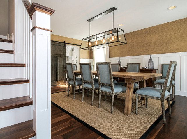 Dining Room. Dining Room Chairs. Dining Room Chairs are from World Market. Dining Room Lighting is from Restoration Hardware. Dining Room Table is from Restoration Hardware. #DiningRoom Redstart Construction.