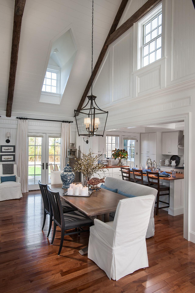 Dining Room. Dining Room Decorating Ideas. Dining Room with Beamed ceiling and coastal decor. #DiningRoom #DiningRoomDesign #DiningRoomIdeas #DiningRoomFurniture #DiningRoomDecor #HGTV2015DreamHouse