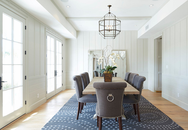 Dining Room. Dining Room Ideas. Dining Room Lighting. Light Fixture is the Suzanne Kasler Morris Lantern. Board and Batten Dining Room. #DiningRoom #BoardandBatten
